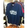 T-Shirt Jesus Tribal weiß auf blau