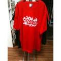 T-Shirt Jesus Tribal weiß auf rot