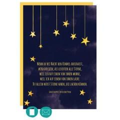 Trauerkarte - Kind - Sterne