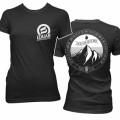 T-Shirt Mountain (Girlie) schwarz