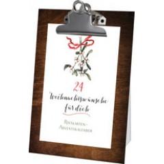 24 Weihnachtswünsche für Dich - Postkarten-Adventskalender