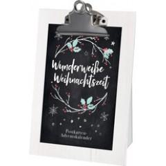Wunderweiße Weihnachtszeit - Postkarten-Adventskalender