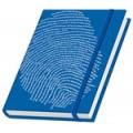 """Schreibbuch """"Fingerabdruck"""" - blau"""