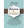 Postkarte Gutschein für kommentarloses Zuhören (Emotionskarte)