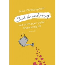 "Postkarte ""Seid barmherzig"" Jahreslosung 2021 (Mareike Schaaf)"