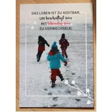 Postkarte Lebendig sein