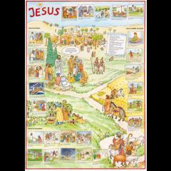 Poster Jesus (mit Aufklebern)