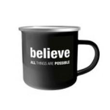 """Tasse Emaille """"believe"""""""