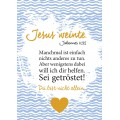 Postkarte Jesus weinte (Emotionskarte)