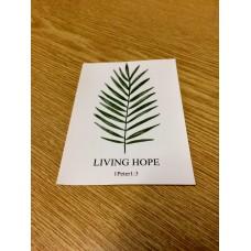 Aufkleber Living Hope