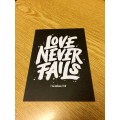 Postkarte Love never fails