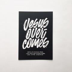 Postkarte Jesus Overcomes
