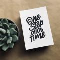 Postkarte One Step at a Time
