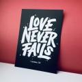 Postkarte Love never fails