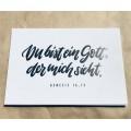 Postkarte Du bist ein Gott, der mich sieht