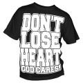 T-Shirt Don't lose Heart (weiß auf schwarz)