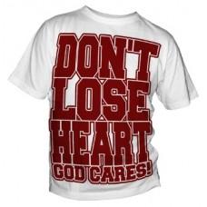 T-Shirt Don't lose Heart (rot auf weiß)