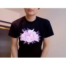 T-Shirt Salvation, rosa Aufdruck (Girlie)