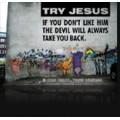 Postkarte Try Jesus
