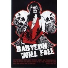 Aufkleber Babylon will fall