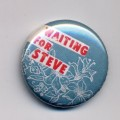 Button Waiting for Steve hellblau